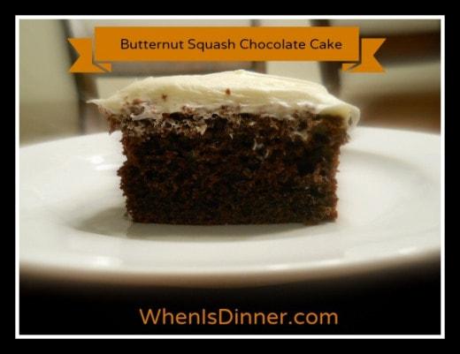 Butternut Squash Chocolate Cake Recipe
