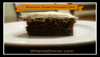 Butternut Squash Chocolate Cake Recipe