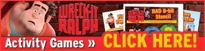 Wreck-it-Ralph Activity Games