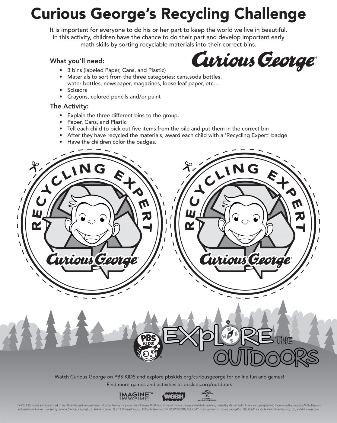 Curious George's Recycling Challenge