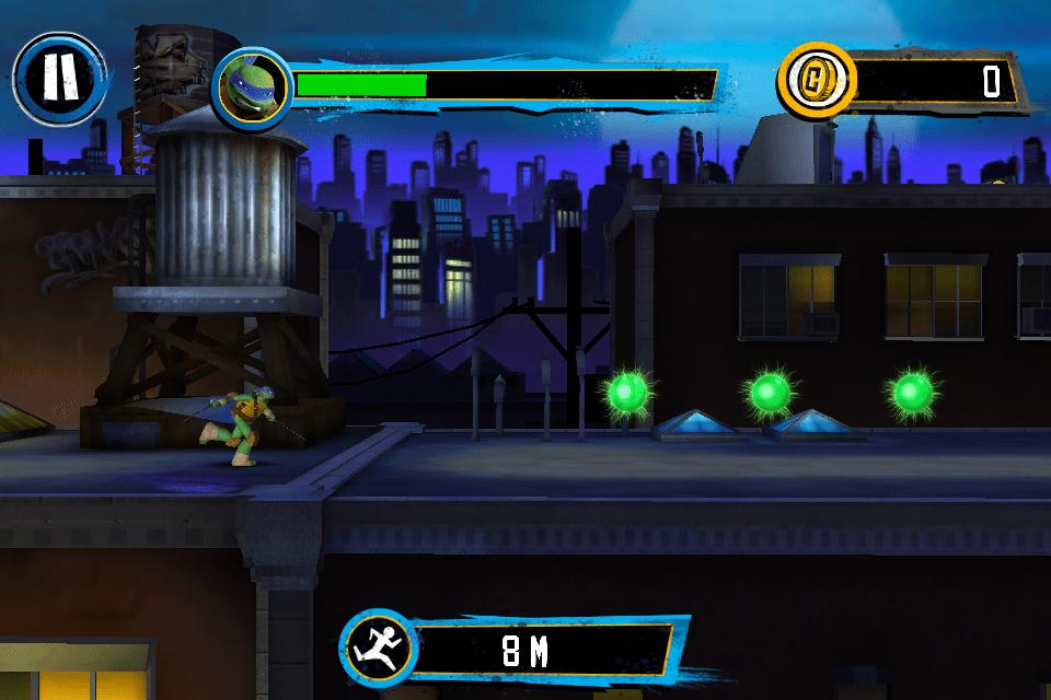 Teenage Mutant Ninja Turtles App Review: Rooftop Run