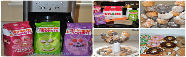 Dunkin Donuts Tasting Party Treats