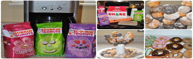Dunkin Donuts Tasting Party Treats