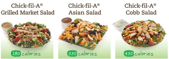 Fresh Made Salads At Chick Fil A