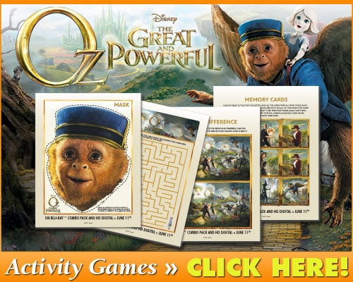 Oz Great and Powerful Activity Games