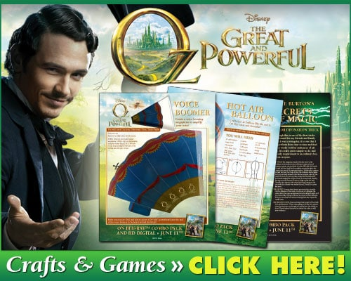 Oz Great and Powerful Crafts and Games
