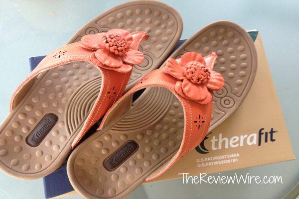 Carly Orange Therafit Sandal