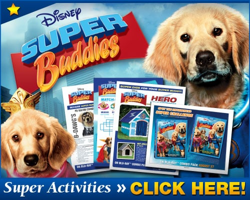 Disney's Super Buddies Printable Activities