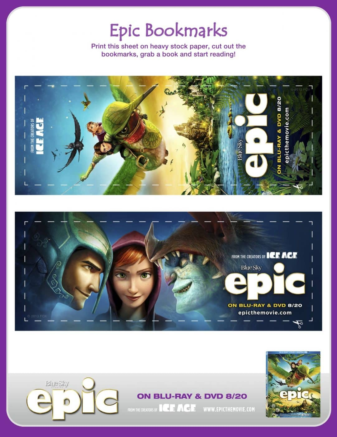 EPIC Bookmarks