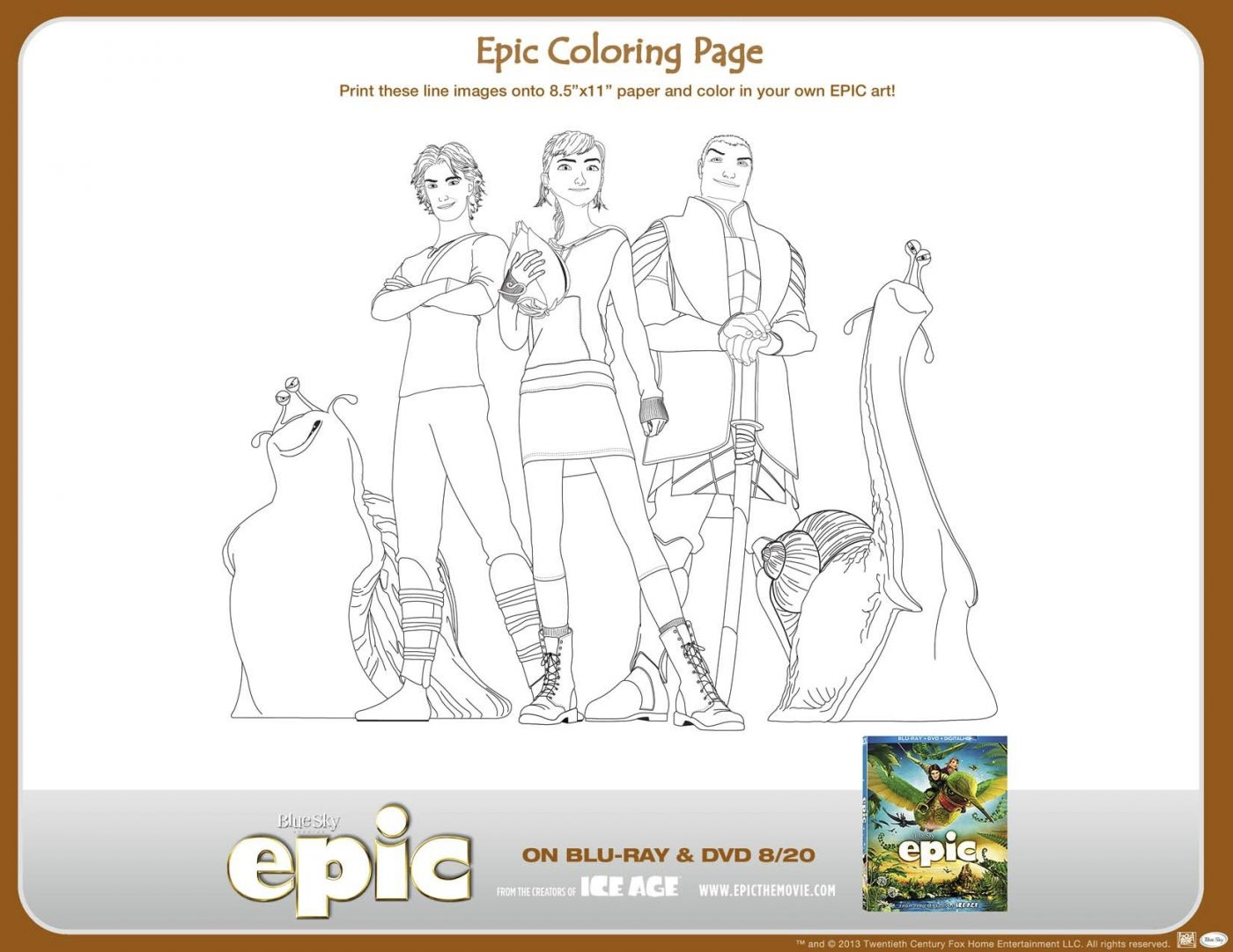 EPIC Coloring Page