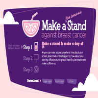 """""""Make a Stand"""" against breast cancer"""