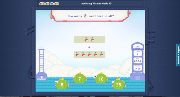 Splash Math Game