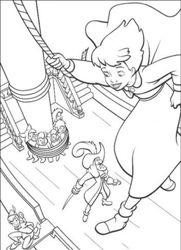 peterpan-in-return-to-neverland-coloring page