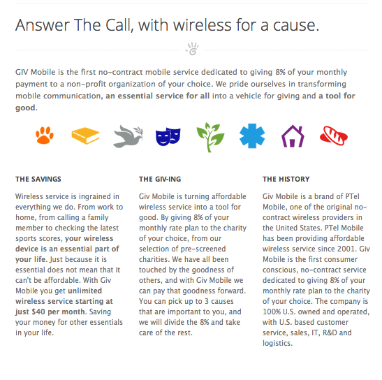 GIV Mobile Wireless For A Cause