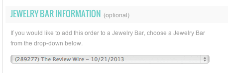 Jewelry Bar Information
