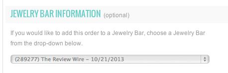 Jewelry Bar Information