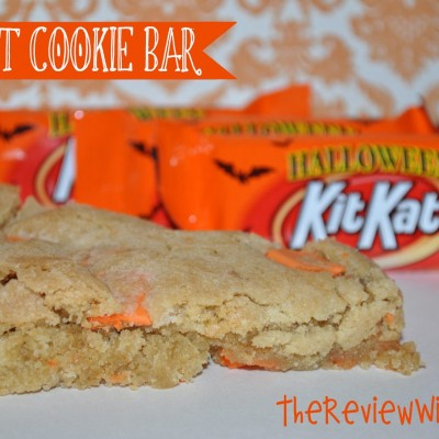 Celebrate Halloween With A Hershey's Kit Kat Cookie Bar Recipe