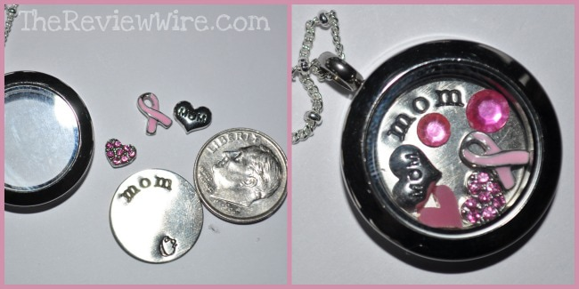Origami Owl Breast Cancer Locket
