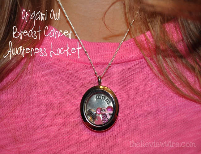 Origami Owl Breast Cancer Necklace
