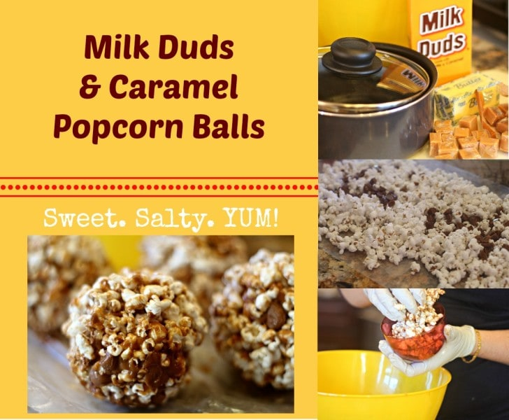 Caramel Popcorn Milk Duds Popcorn Balls