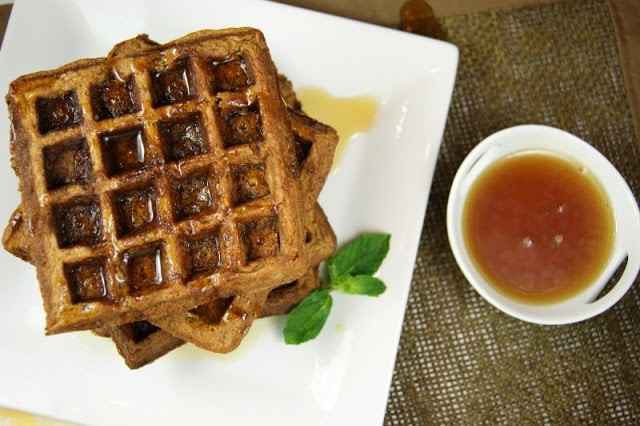 Gingerbread Waffles_with Syrup