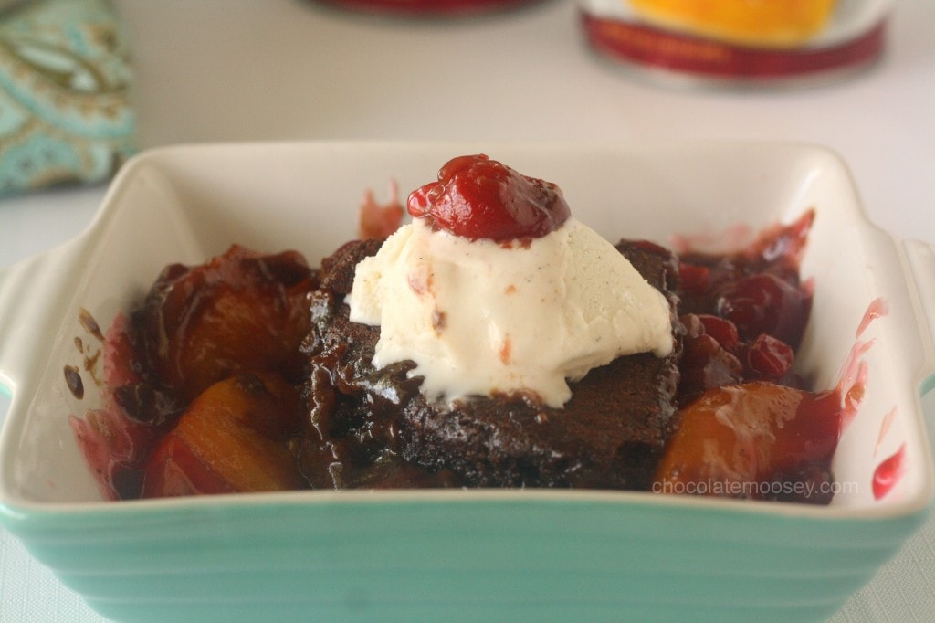 Peach-and-Cherry-Gingerbread-Cobbler