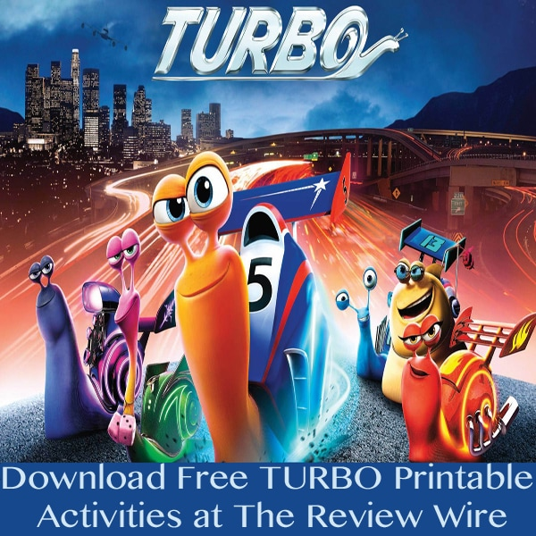 The Review Wire: Turbo Movie Printables