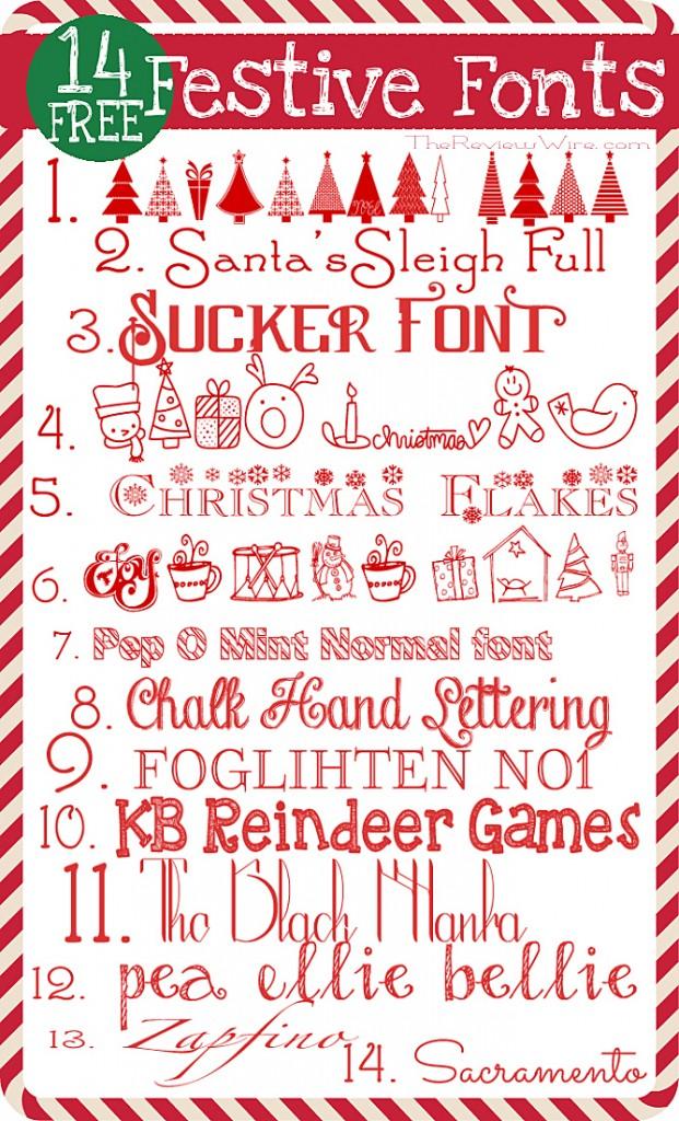 14 Free Festive Fonts