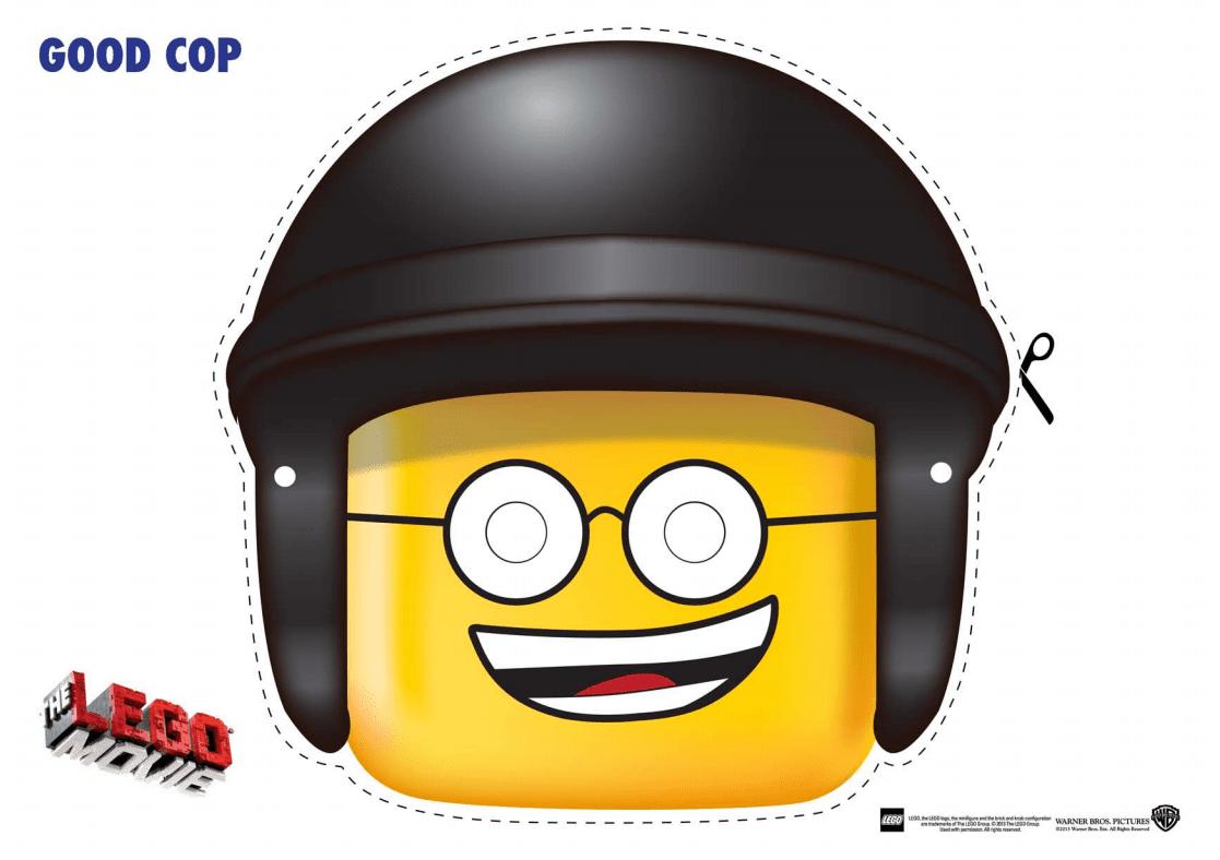 LEGO Movie Good Cop Mask