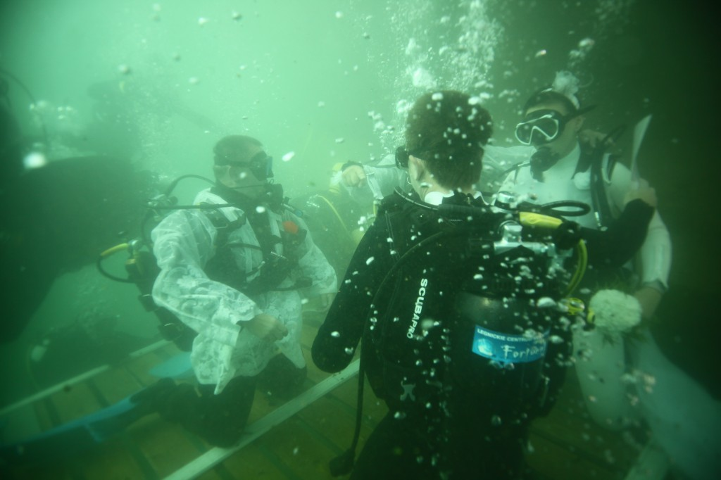 Largest Underwater Wedding
