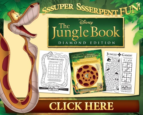 The Review Wire - You Better Believe It... I Have The Jungle Book Activity Pages!