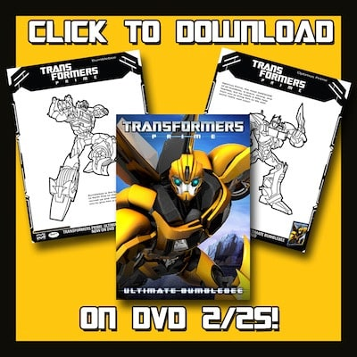 Transformers Prime Activity Sheets: Ultimate Bumblebee