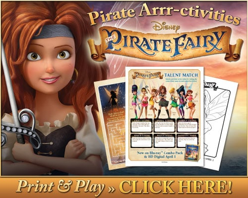 Disney's The Pirate Fairy Printables