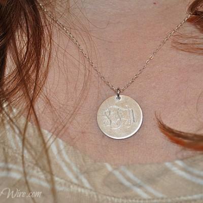 JC Jewelry Design: Personalized Monogram Silver Necklace