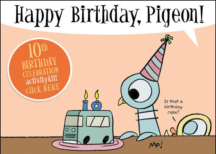 Pigeon 10 year Anniversary Activity Kit