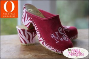 The Pink Monogram High Heel Monogrammed Clogs