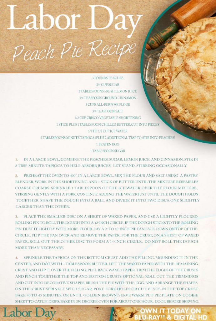 Labor Day Peach Pie Recipe