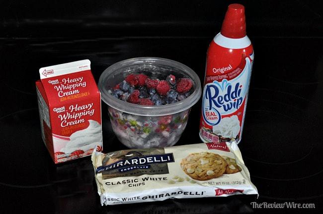 Frozen Berry Dessert Ingredients