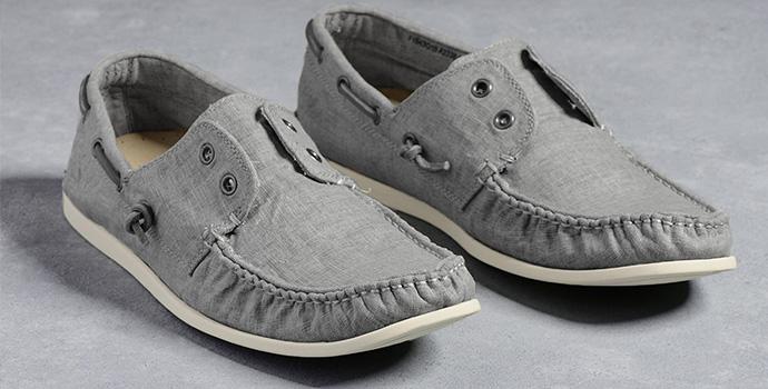 John Varvatos Washed Linen Boat Shoe