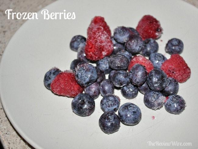 Plated Frozen Berries