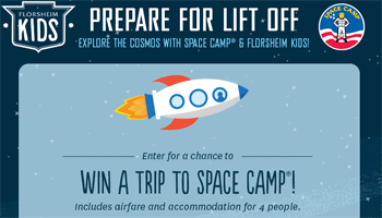 Florsheim Kids Space Camp Sweepstakes   Ends 7.20.14