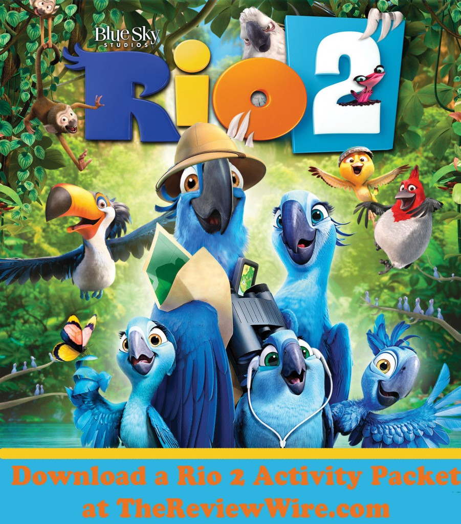 Rio 2 Movie Printable Activites