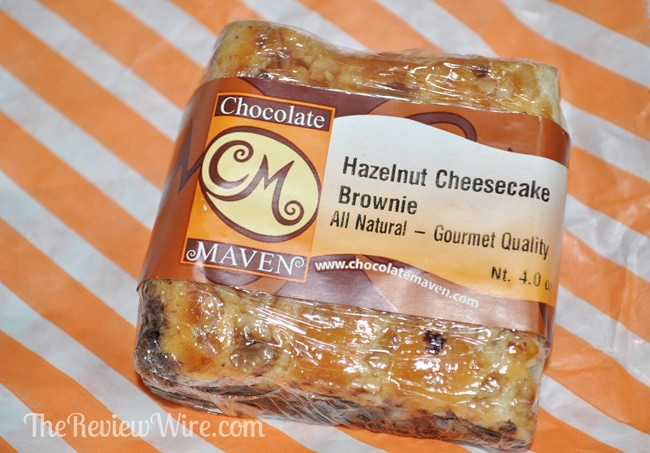 Hazelnut Cheesecake Brownie from the Chocolate Maven