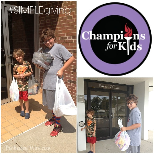 Champions For Kids Simple Giving