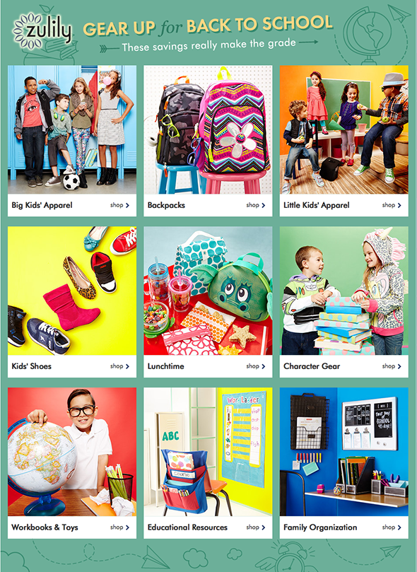 Gear Up for Back To School with zulily