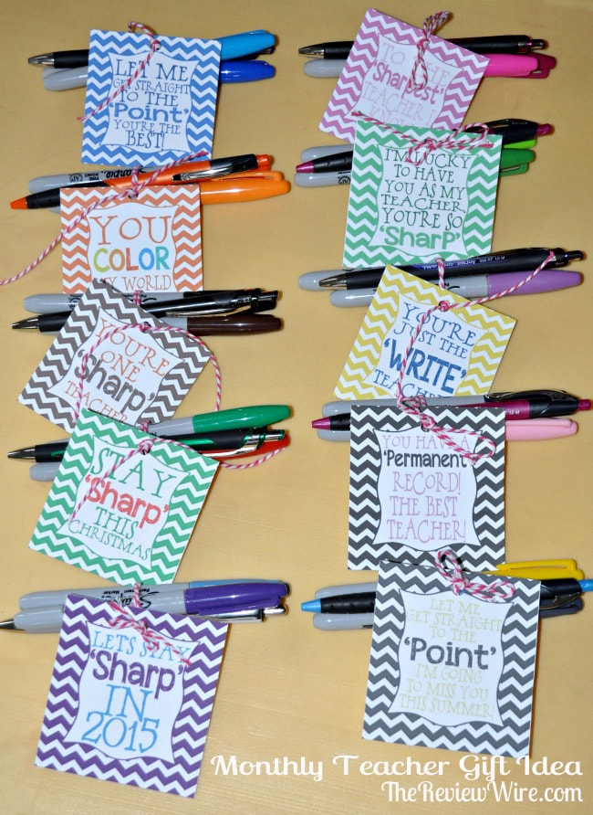 Monthly Teacher Gift Idea