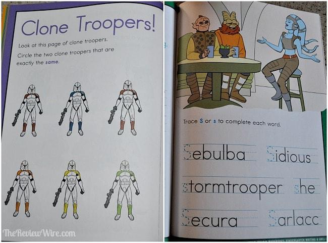 Star Wars Workbook Pages