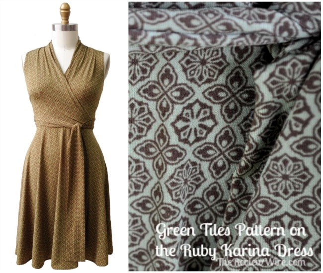 Green Tiles on the Ruby Karina Dress