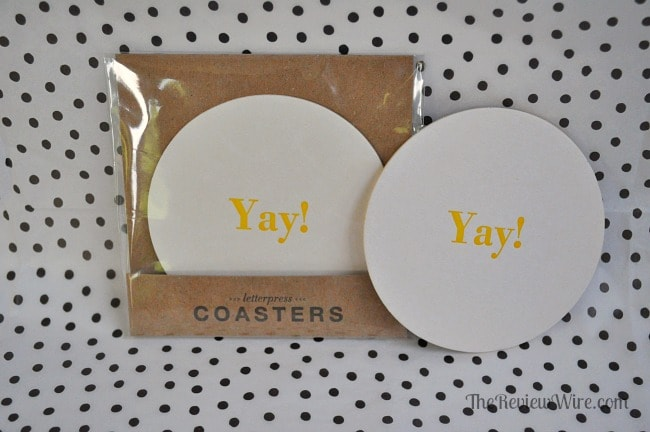 Letterpress Coasters from MissionCute: Accessories Monthly Subscription Box