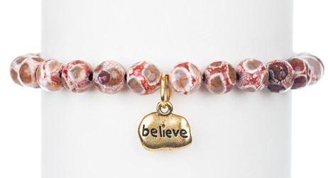 BCA MarieChavez_Pink-Dzi-Agate-Bracelet-Believe-Charm_Charity_Doctor-Susan-Love-Research-Foundation-Breast-Cancer_large